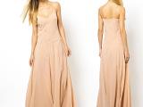 品质女装批发  欧美吊带无袖连衣长裙 雪纺大摆裙  拖地长裙