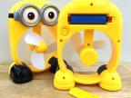 夏季新品 小黄人奇特USB风扇 迷你风扇 充电迷你风扇锂电池小风扇