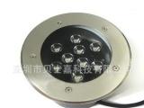 供应LED地埋灯/9W埋地灯/LED大功率地埋灯/户外亮化工程L