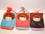 俏女孩多功能斜挎包,摩丝娃娃斜挎包,简单熊斜挎包