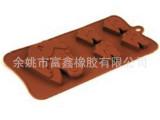 可爱的5只小马头形状硅胶巧克力模蛋糕模  DIY烘焙  厨房用具