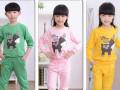 小孩子秋冬保暖加厚套装批发青岛最便宜畅销儿童卫衣打底衫批发