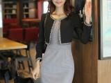 秋女装 高端气质 假两件职业连衣裙 修身显瘦长袖 OL包臀连衣裙