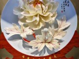 兰州牡丹瓷十寸价格 兰州工艺礼品牡丹瓷