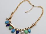 欧美外贸饰品尾货批发 可混搭 时尚彩色水滴项链