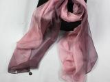 厂家围巾批发 淘宝爆款女士真丝丝巾披肩100%桑蚕丝手绘双色渐变