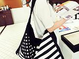 【特价直销】欧美潮流包时尚休闲购物女包单肩手提帆布国旗包
