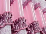 柯桥遮光窗帘 高档双面欧式雪尼尔条纹面料 水溶绣花遮光窗帘布料