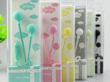 厂家批发新款ienjoy IN-058水晶硬盒苹果手机带麦耳机韩
