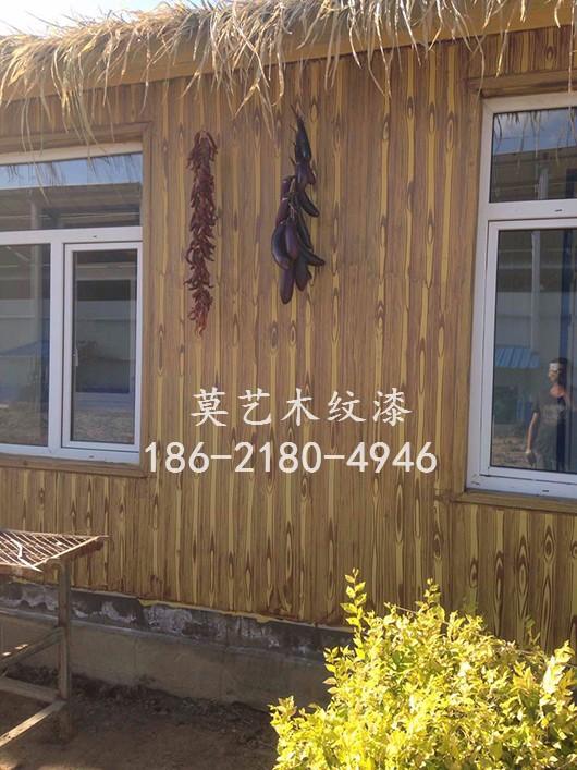 石家庄木纹漆施工 仿木纹漆金属木纹漆 廊架木纹漆施工价格