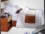 40支五星级酒店床上用品全棉六件套批发 客房布草床品白色套件