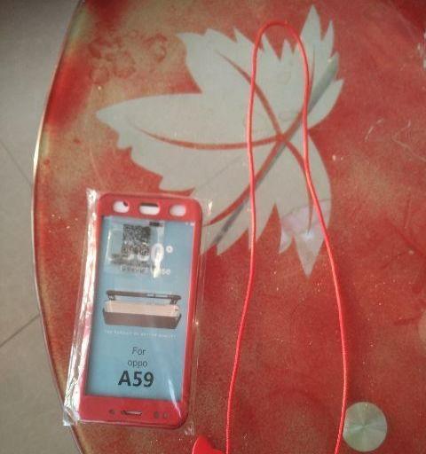 全新oppo a59手机全套防护装红色的...
