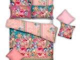 维也娜新品家纺欧饰美四件套装饰面料转移印花四件套品牌招商加盟