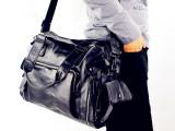 批发新款PU男士单肩包横款韩版时尚休闲商务旅行包单肩手提斜跨包