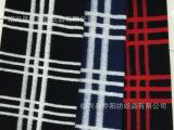 绍兴柯桥 乔阳纺织 粗纺毛呢面料 针织提花 大格子 女装大衣面料
