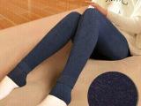 秋冬新款七彩棉无缝一体裤 女士外穿黑色打底裤加厚款踩脚裤