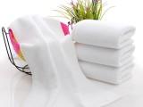 洗浴一次性毛巾酒店用白毛巾纯棉毛巾绣字毛巾礼品毛巾厂家
