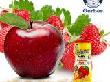 美国进口嘉宝草莓苹果星星泡芙 儿童婴儿食品宝宝零食gerber辅