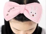 A366 创意家居 蝴蝶结砂糖兔 束发带 洗脸化妆 发带