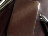 I9220油边工艺皮套 Galaxy Note 三星 电池盖侧翻