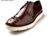 男皮鞋 真皮真皮英伦厚底男士皮鞋单鞋欧美单鞋外贸鞋男士皮鞋