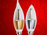 LED蜡烛灯泡光源 5WLED尖泡E14