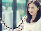 项链女短款锁骨 韩版时尚夸张复古猫眼石多层哥特黑色颈链