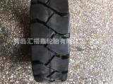 前进充气实心叉车轮胎合力林德黑色白色15X4.5-8