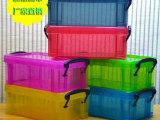 厂家直销 创意文具 大号糖果色透明收纳盒 塑料整理盒 收纳文具盒