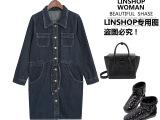 2014新款女式风衣长款百搭休闲宽松风衣 韩国牛仔外套潮一件代发