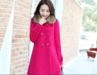 新款秋冬妮子加厚冬装毛呢外套女装中长款茧型韩版呢子大衣潮