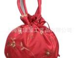 丝绸布艺喜糖袋 喜糖包装  绣花牙子包