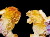 爆款貔貅琉璃摆件 精美动物琉璃 古法琉璃 家居商务会销保险礼品