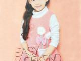 新款韩版童装秋冬长袖女童卫衣 假两件套 条纹加绒加厚一件代发