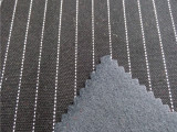 【厂家销售】15-135  30sTR针织复合竖条纹面料