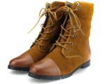 欧美外贸新款 擦色复古马丁靴 真皮平底加毛短靴女靴代理一件代发