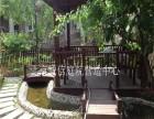 别墅绿化庭院绿化庭院施工 防腐木栅栏地板花架凉亭施工公司