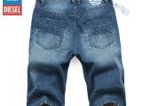 新款牛仔中裤 欧美男士牛仔马裤男 外贸大码5分裤男 批发男式短裤