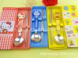 不锈钢礼盒餐具两件套 儿童卡通餐具套装