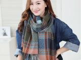 韩版新款那女情侣格子围巾羊绒加厚舒适保暖围巾一件代发