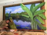 楊浦區室內墻繪公司 墻繪彩繪工作的 3D涂鴉團隊
