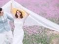 开花时节怎么能没有婚纱照呢