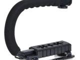 摄稳定器 U型DV手提C型架 手持低拍架单反5d2稳定架 闪光灯