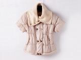 冬季新款女装棉衣韩版纯色修身收腰棉服女显瘦大立领中袖棉衣女