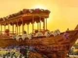 纯手工各种木船贡多拉船画舫船景观装饰船单亭船乌篷船等