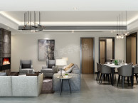保利观塘四居室北欧风格装修方案图 天古设计师毛锐作品