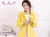 虞莲美 2013冬款 韩版中长款毛呢大衣 女 一件代发呢大衣厂家