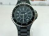 正品品牌时尚镶钻手表 纯陶瓷防水防刮蓝宝石优雅时尚女表黑色款