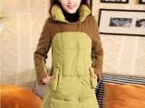 2013新款韩版中长款棉服韩国女装大码羊羔毛加厚棉服 外套冬