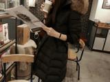 2014冬季新款修身中长款外套韩版大码棉衣加厚大毛领羽绒棉服女潮